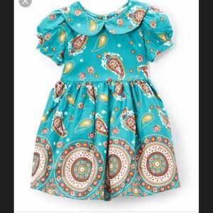 Maria Elena Turquoise Paisley Dress
